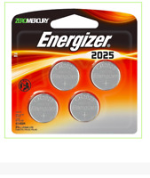 Energizer 2025 Lithium Coin Batteries 4 Pack    New & Sealed