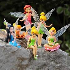 Free shipping 6pcs/set Disney beautiful fairy figure Mini series toys 4--10cm