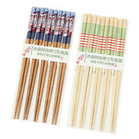 5 Pairs Bamboo Chopsticks Set Japanese Family Gift Home Bar Kitchen Supplies