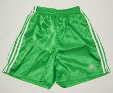 ADIDAS Youth Boys Green Nylon Athletic Workout Jogging Shorts Size Small (8-10)