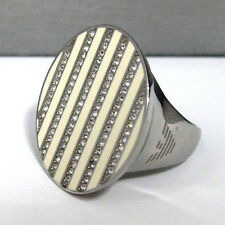 Emporio Armani Steel Ring Comes With Original Box And Papers Size 7.25