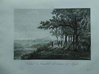 1845 Zuccagni-Orlandini Veduta di Camaldoli nella vicinanze di Napoli