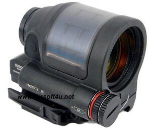 Solid 1X38 SRS Style 1.75 MOA Solar Power Reflex Red Dot Sight Scope w/ QD mount