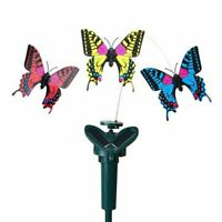 Rotating Butterfly Lamp Solar Powered Garden Dust-to-dawn Solar Decor Lamps A Z1