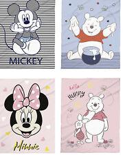 Babydecke 75x100 Micro Flausch Disney Winnie Pooh Mickey Mouse Minnie Mouse