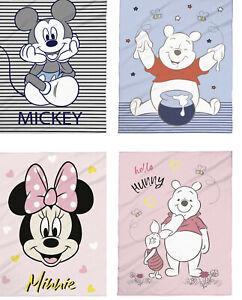 Disney Babydecke Micro Flausch Kuschel 75x100 Winnie Pooh Mickey Minnie Mouse