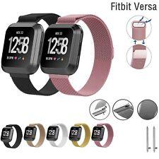 Pour Fitbit Versa Milanais Remplacement Bracelet Acier Inoxydable Métal Watch GB