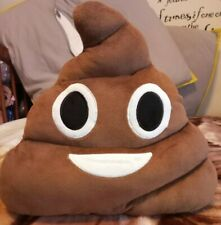 Brown poo emoji plush pillow