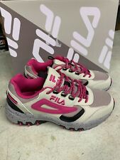 NEW Women's Fila Reminder Tan Pink Hiking Trail Athletic Shoe Leather Pick Size