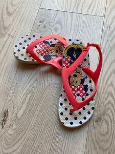 Minnie Mouse Beach Flip Flops Toddler Sz 9