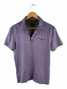 Banana Republic Polo Shirt Men Size M Purple Short Sleeve Collared Button Pocket