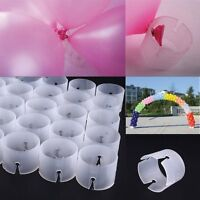 50PCS Balloon Holder Arch Stand Connectors Clip Ring Buckle Wedding Party Decor