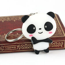 Silicone Cartoon Panda Keychain Keyring Bag Lovely Kawaii Pendant Key Ring Chain