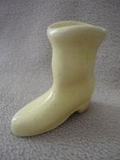Yellow Porcelain Boot Western Farming Mini Vase Vintage