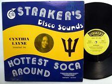 "CYNTHIA LAYNE & The Equitables International Soca 12"" Strakers PIC SLEEVE reggae"