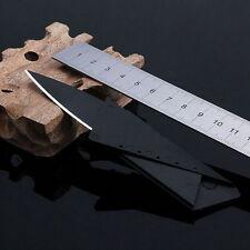 Card Knife Black Folding Blade Pocket Knives Mini Tool Wallet Camping Outdoor