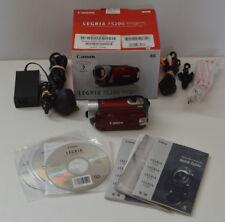 BOXED RED CANON LEGRIA FS200 CAMCORDER SD / SDHC CARD DIGITAL VIDEO CAMERA