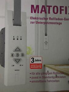 MATOFIX elektrischer Rollladen Gurtwicker NEU OVP zur Unterputzmontage