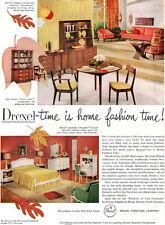 Drexel Declaration Mid Century Modern Furniture TOURAINE Travis Court 1959 Ad