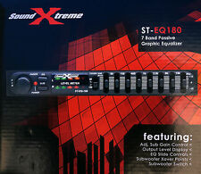 SoundXtreme Car Audio Passive Equalizer 7 Band 1/2 Din Pre Amp Eq Sub Crossover