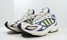 Vintage Adidas Mens 8.5 Adiprene Torsion Walking Running Dad Shoes White Blue