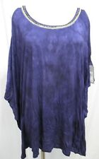 Guess Midnight Iris Cassandra Knit Cold Shoulder Loose Fit Top M NWT $69 SS