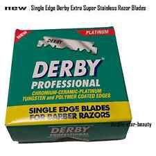 100 Blades Single Edge Derby Extra Super Stainless Razor Blades