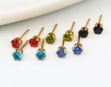 Ladies Gold & Rhodium Plated Stud Earrings Jewellery 💜💙Choice of Shades 💙💜