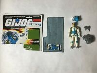 GI JOE ARAH Countdown 1989 V.1 With Accessories Filecard And Cut Cardback