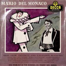 MARIO DEL MONACO Arias From Pagliacci And.. UK Press Decca LW 5118 25 Cm/10 Inch
