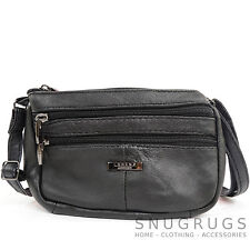 Ladies / Womens Soft Nappa Leather Across Body / Shoulder Bag