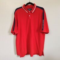 Vintage RALPH LAUREN Polo Jeans Co Men's Red White Blue Polo SPELL OUT Sz L