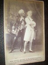 Cab Photo actors Evelyn Millard Herbert Waring Adventure of lady Ursula c1890s