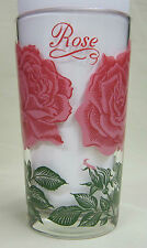 Rose Peanut Butter Glass Glasses Drinking Kitchen Mauzy 28-5