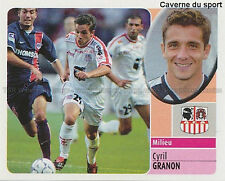 CYRIL GRANON # AC.AJACCIO RACING FERROL STICKER  PANINI FOOT 2003 ~