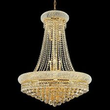 Palace Bagel 14 Light Crystal Chandelier Ceiling light - Gold 28x36