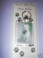 West Highland Terrier Dog Design Key Ring