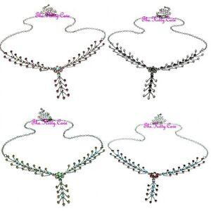 Deco Moulin Burlesque Cocktail Statement Arrows Y Necklace w/ Swarovski Crystals