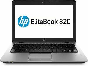 "HP EliteBook 820 G1 Ultrabook 12.5"" i5-4300u 8GB 120GB SSD Win10 Pro Notebook"