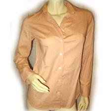 ORANGE POLKA DOTS Long Sleeve Career Office Wear POLO Button Down Shirt TOP XS S