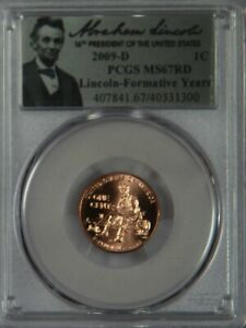 2009-D Lincoln Cent Penny Formative Years Rail Log Splitter PCGS MS67 MS67RD