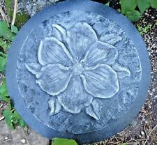 Flower stepping stone mold plaster concrete casting mould