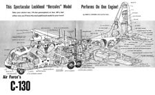 """Model Airplane Plans (UC-): Lockheed C-13 64"""" Scale for .19s (2) or .09s (4)"""