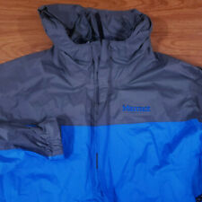 Men's Marmot Precip Windbreaker Rain Jacket Blue Gray Large