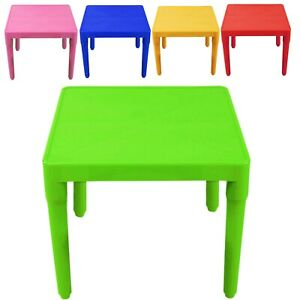 Kids Children Plastic Table Strong Folding Table Suitable for Outdoor Side Table