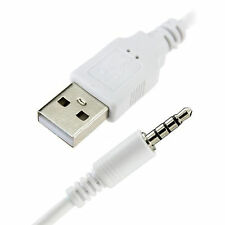 3.5mm AUX to USB 2.0 AUX Jack Audio Plug Data Charger Cable iPhone iPod MP3 MP4