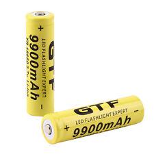 2pcs 3.7V 18650 9900mah Li-ion Rechargeable Battery For LED Flashlight Torch DY