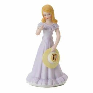 Birthday cake topper - Growing up girls BLONDE AGE 12 princess
