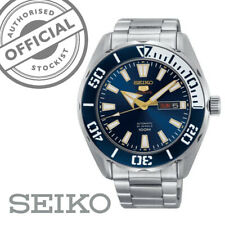 Seiko 5 Sports Stainless Steel Blue Dial Automatic Mens Watch SRPC51K1