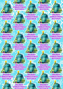 MONSTERS INC Personalised Christmas Gift Wrap - Monsters Inc Wrapping Paper